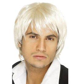 Boy Band Pruik Blond