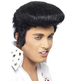 Elvis Deluxe Pruik Zwart