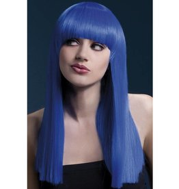 Fever Alexia Pruik Neon Blauw