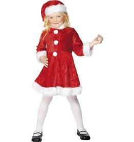 Mini Miss Santa Kostuum, Rood