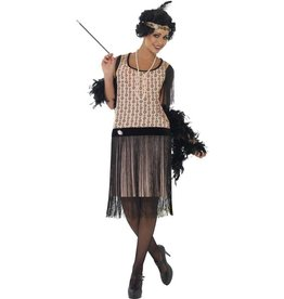 1920's Coco Flapper Charleston Kostuum Pink
