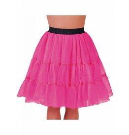 Petticoat pink middel lang, elastique