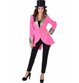 Damesjas met shawlkraag Pink
