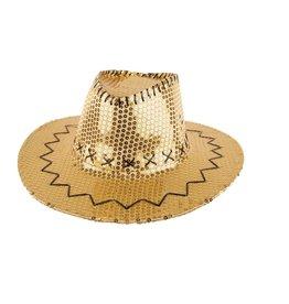 Hoed Cowboy Sequin Goud