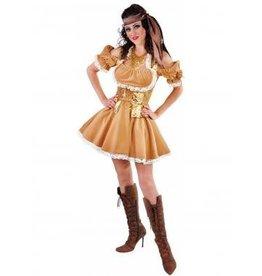 Piraat Dame goud/Bruin