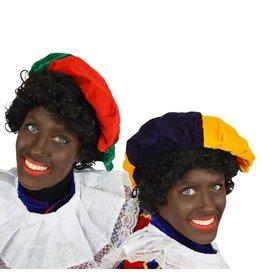 Piet baret fluweel assortie kleur