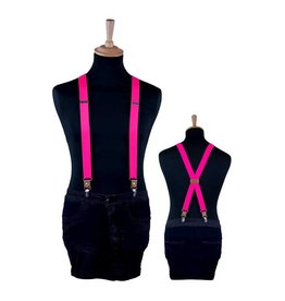 Bretels luxe neon roze