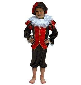 Kostuum Kind Piet zwart/rood