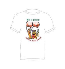 T-shirt 'Bier is gezond en tieten zijn rond'