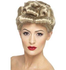 40's Vintage Pruik Blond