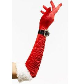 Lange Kerst Handschoenen met Belletjes