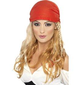 Piraten / prinses pruik met Bandana