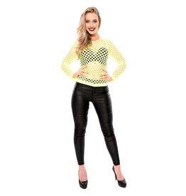 Damesshirt + gaten fluor geel