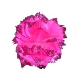 Bloem + Glitter en Ijzerdraad Pink
