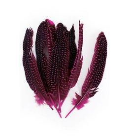 Veren Parelhoen 15/20cm 10 stuks Pink