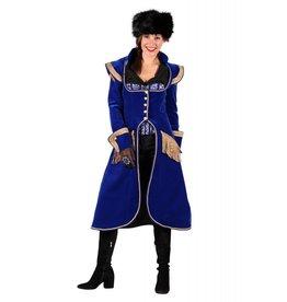 Lange dames jas ''Amélie'', Blauw