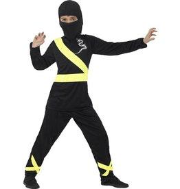 Ninja Assassin Kostuum, kind, Zwart/Geel