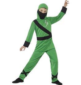 Ninja Assassin Kostuum, kind, Groen/Zwart
