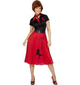 Jaren 50 jurk met poedel