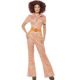 Authentiek jaren 70 Dameskostuum, oranje