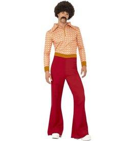 Authentiek jaren 70 Herenkostuum, rood