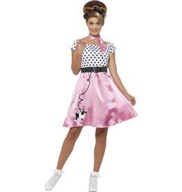 Jaren 50 Rock & Roll Kostuum, Pink