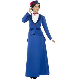 Victoriaanse Nanny Kostuum, Blauw