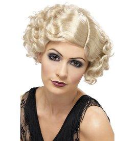 Jaren 20 Flirty Flapper Pruik,  Blond