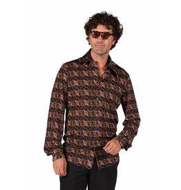 Retro blouse, Black groovy