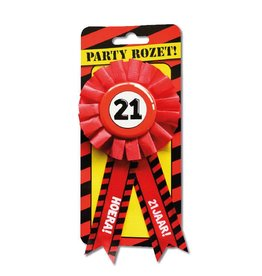 Party Rozetten - 21 jaar