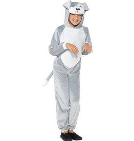 Hond Kostuum, Grijs, Kind