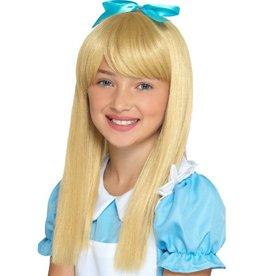 Wonderland Prinses Pruik, Blond voor Kinderen