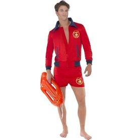 Baywatch Strandwacht Kostuum, Rood