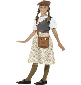 WW2 Evacuee schoolmeisjes Kostuum, Grijs