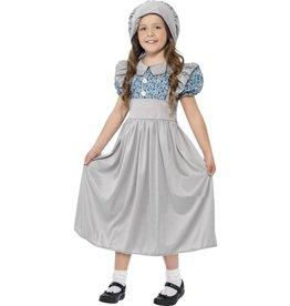 Victoriaans Schoolmeisje Kostuum, Grijs