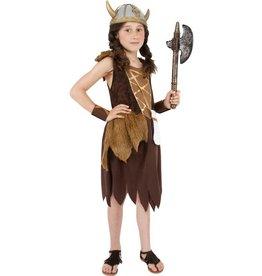 Viking Meisjeskostuum, Bruin
