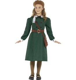 WW2 Evacuee Meisjeskostuum, Groen