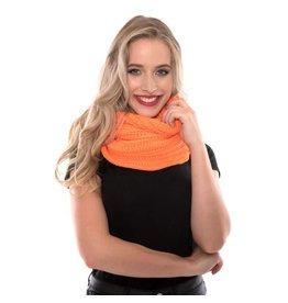 Gebreide Snood Fluor Oranje