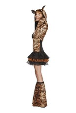 2ecdb4cb9848fd Fever Tijger Kostuum, Bruin - De verkleedzolder, voor al uw ...