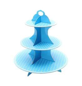 Etagere Cupcake Blauw Carton