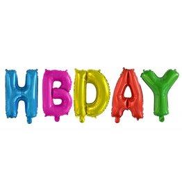 Folie Ballon Happy Birthday, Assorti (40 Cm)
