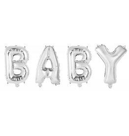 Folie Ballon Baby, Zilver (40 Cm)
