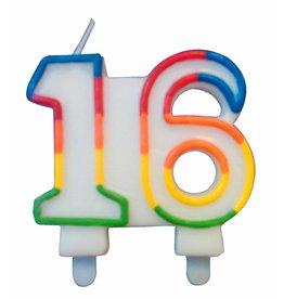 Nummerkaars Cijfer 16