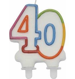 Nummerkaars Cijfer 40