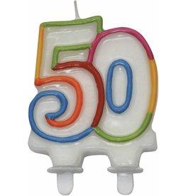 Nummerkaars Cijfer 50