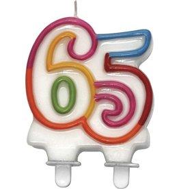 Nummerkaars Cijfer 65