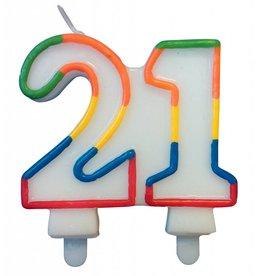 Nummerkaars Cijfer 21