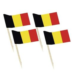 Vlaggetjes Zwart/Geel/Rood (7 cm, 50 stuks)