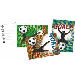 Uitnodigingskaarten Goal (6 stuks)