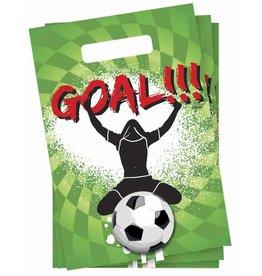Uitdeelzakjes Goal (6 stuks)